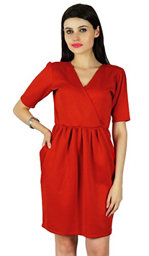 Sundress Hippie Red Dress Wear Summer Boho Women Kurti Casual Tunic Beach 7XznxvxW