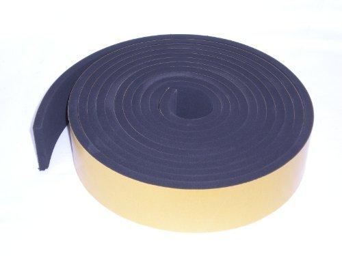NEOPRENE RUBBER Self Adhesive Strip; 3//8 wide x 5//64 thick x 33 feet long