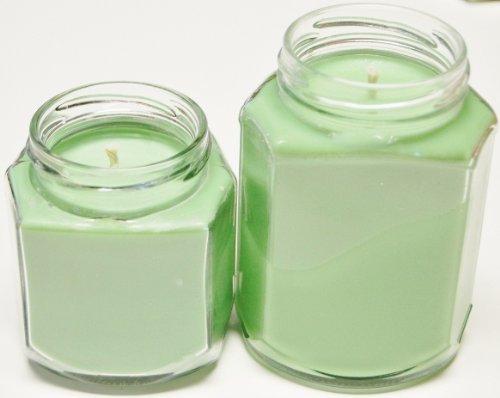 4 Pack, Two 8 oz & 12 oz Oval Hex Soy Candle - Lavender Cucumber Sage 12 Oz Hex Jar