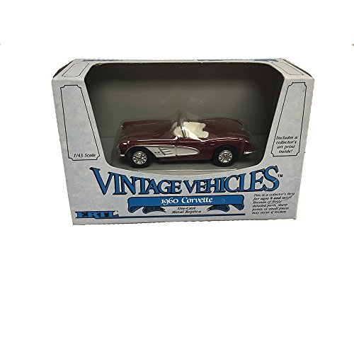 ERTL Vintage Vehicles 1960 Corvette Metal Replica Diecast Models Car 1:43 -