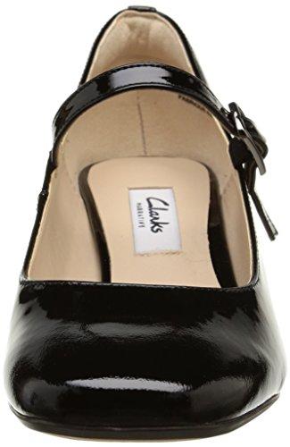 Clarks Chinaberry Pop - Zapatos de Vestir de cuero Mujer Negro (Black Pat)