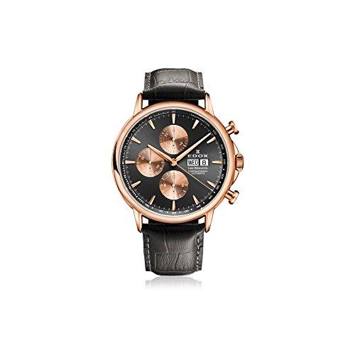 Edox Men's 01120 37R GIR Les Bemonts Analog Display Swiss Automatic Grey Watch