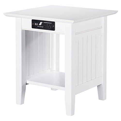 Atlantic Furniture Charlotte End Table with Charging Station