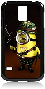 Soldier Minion- Hard Black Plastic Snap - On Case with Soft Black Rubber LiningGalaxy s5 i9600 - Great Quality!