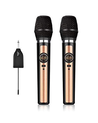 Wireless Microphone System UHF Dynamic Handheld mic with 1/4