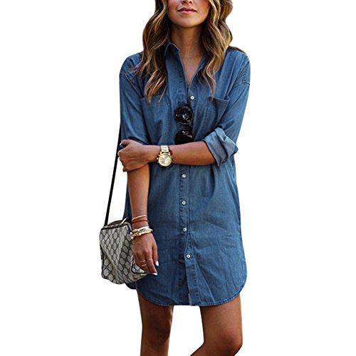 jean blouse dress - 5