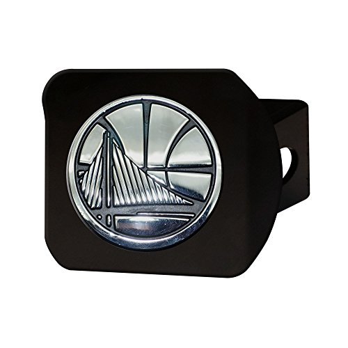 FANMATS 21023 NBA - Golden State Warriors Black Hitch Cover, Team Color, 3.4''x4'' by Fanmats