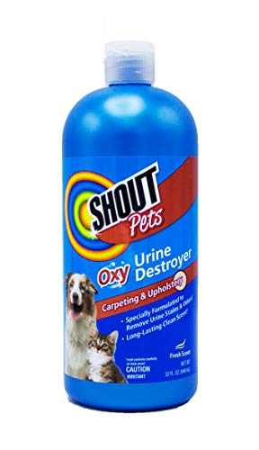 - Shout for Pets Turbo Oxy Urine Destroyer | Carpet Cleaner and Pet Odor Eliminator in Fresh Scent, 32 Ounces