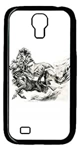 Brian114 Samsung Galaxy S4 Case, S4 Case - Cool Black Back Hard Case for Samsung Galaxy S4 I9500 Fighting Lions 2 Design Hard Snap-On Cover for Samsung Galaxy S4 I9500
