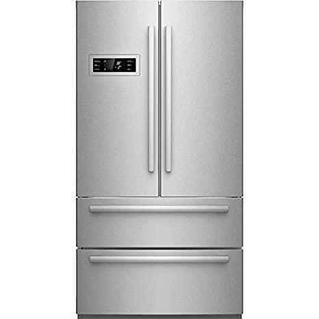 B21CL80SNS 36 Counter Depth French Door Refrigerator With 20.8 Cu. Ft.  Capacity 2 Freezer