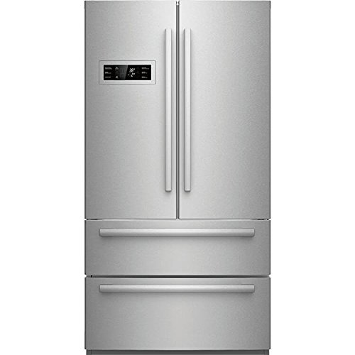 800 Series Refrigerator - B21CL80SNS 36 Counter Depth French Door Refrigerator with 20.8 cu. ft. Capacity 2 Freezer Drawer Dual AirCool System Crisper and Ice Maker: Stainless Steel