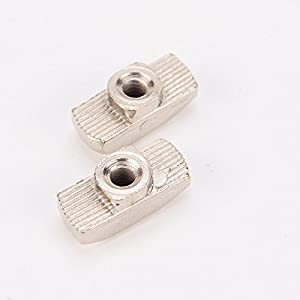 50pcs M4 M5 M6 M8 Carbon Steel Hammer Head Drop in T-nut for Aluminum Extrusion Profile 4040 Slot 8mm by Ningbo Boeray