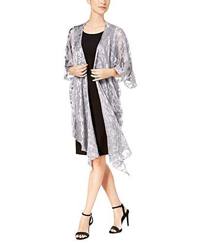 Betsey Johnson Women's Baroque Burnout Draped Evening Wrap (Grey,One Size)
