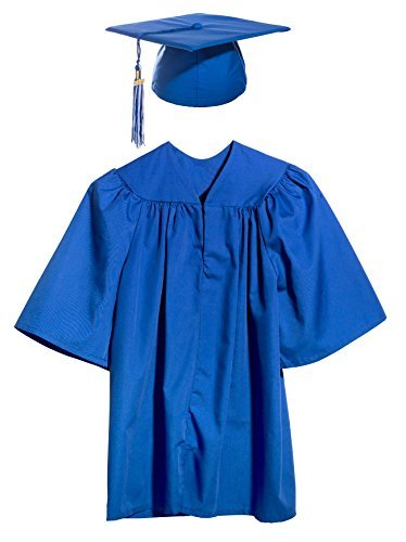 Blue Preschool and Kindergarten Graduation Cap, Gown, Tassel, and Charm - Medium