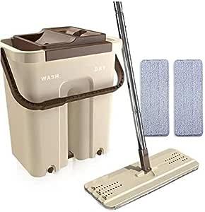دلو نظافة مع ممسحة لتنظيف الآرضيات