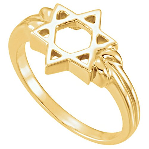 14k Yellow Gold Star of David 12mm Ring, Size 8 by The Men's Jewelry Store (Unisex Jewelry) (Image #5)