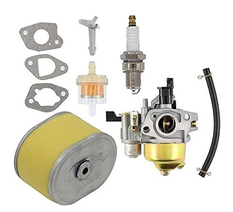 Carburetor + Air Filter + Spark Plug + Fuel Filter For Harbor Freight Predator 212cc Homelite Pressure Washer 179CC 180cc DJ165F 2700PSI 2.3GPM UT80522D Honda GX160 5.5HP GX200 6.5 HP - Predator Cleaner