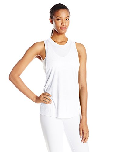 Alo Yoga Women's Heat Wave Tank, White, M