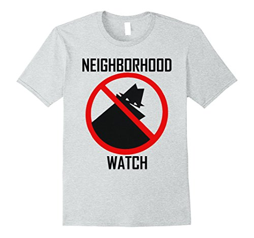 Mens Neighborhood Watch Funny T Shirt Medium Heather (Neighborhood Watch Halloween Costume)