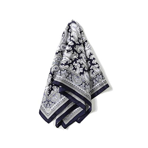 Silk Scarf Small Square For Women, Jeelow 100% Silk Small Scarves For Hair Neckerchief (Paisley ()