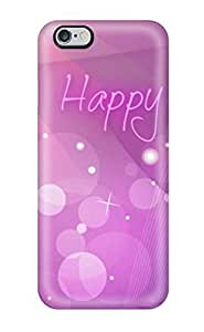 Fashionable Style Case Cover Skin For Iphone 6 Plus- Happy Birthday Purple
