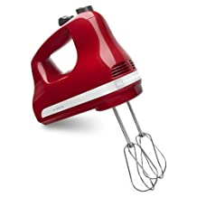 KitchenAid KHM512ER 5-Speed Hand Mixer, Empire Red