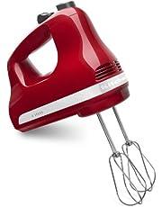 KitchenAid KHM512ER 5-Speed Hand Mixer, Empire Red