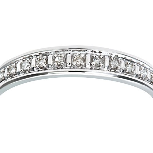 Bague Femme - Or Blanc 375/1000 (9 Cts) 1 Gr - Diamant 0.005 Cts