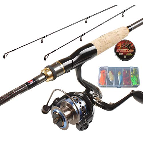 YROD Lure Rod, Fly Bass Trout Rod, Telescopic Reel Combos Spinning Wheel Far Throw Long Distance Super Hard Sea Rock Fishing Carbon Pole Full Set Double Rod Slightly (Size : 2.4m/94inch) (Best Long Distance Carp Rods)
