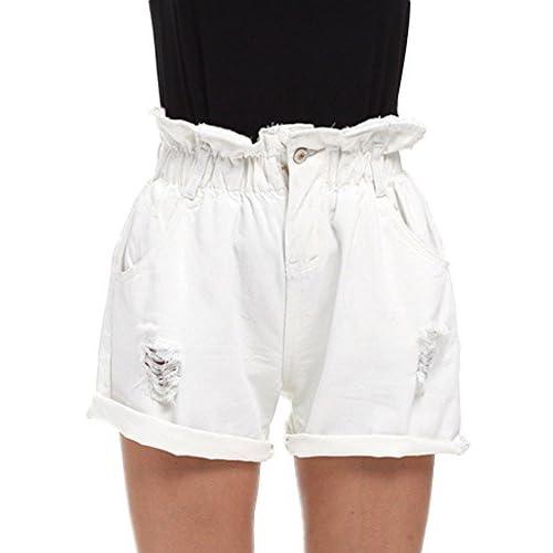 3dc154297b 50%OFF Minetom Mujer Talle Alto Engaste Shorts Mezclilla Casual Jeans  Shorts Mujeres Moda Slim