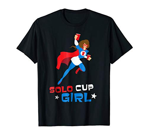 Funny Halloween Costume Women Super Hero Shirt Solo Cup Girl]()
