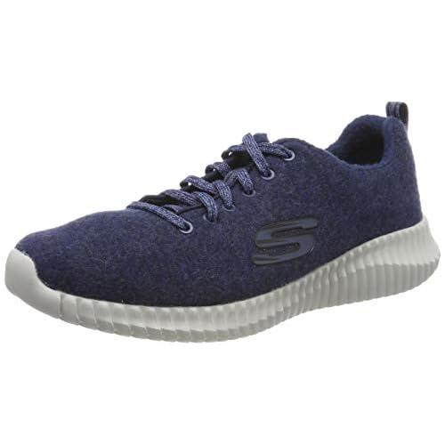 chollos oferta descuentos barato Skechers Elite Flex Zapatillas para Hombre Azul Navy Premium Wool Synthetic Metal Trim Nvy 41 EU