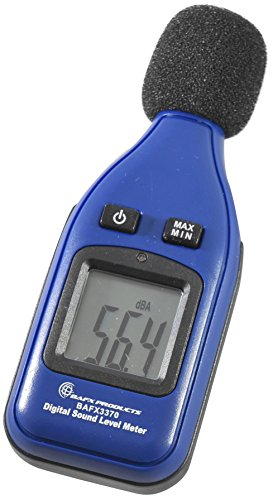BAFX Products® – Decibel Meter / Sound Level Reader – W/ Battery!