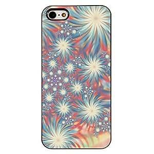 Dreamy Patr¨®n coloridos fuegos artificiales PC caso duro con 3 Almuerzos Protectores HD de pantalla para iPhone 5/5S