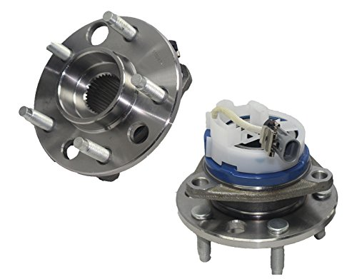 Brand New (Both) Front Wheel Hub and Bearing Assembly for Bonneville, LeSabre, Seville, Silhouette 5 Lug W/ABS (Pair) 513087 x ()