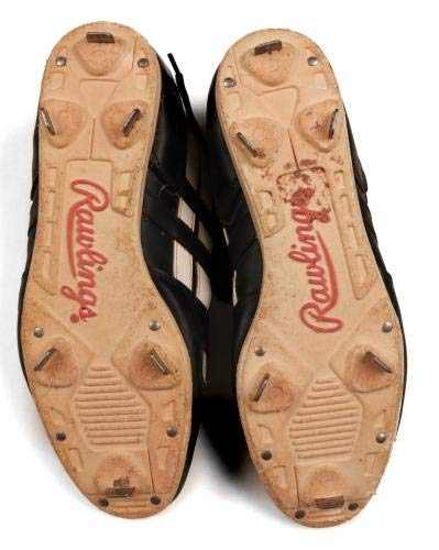 Mickey Mantle Yankees HOF 2x's Signed Pair Rawlings Shoes/Cleats LOA JSA Certified Autographed MLB Cleats