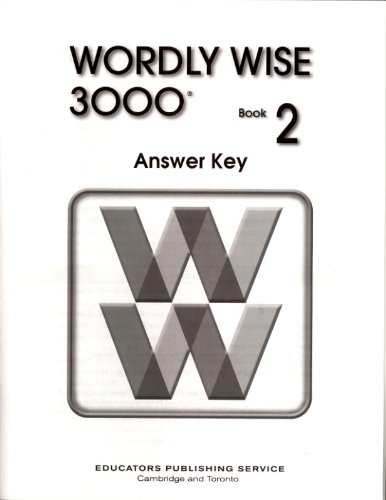WORDLY WISE 3000 BOOK 2 ANSWER KEY