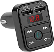 Homyl Kit Veicular Sem Fio Bluetooth Transmissor FM Suporte TF Cartão Carregador USB - Preto