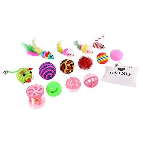 Amazon.com : Best Quality Cats Fashion Toys Sets 16pcs Toys for Cats Tease Stick Mouse Rat Bells Sword Ball Gift Products for Cats : Pet Supplies