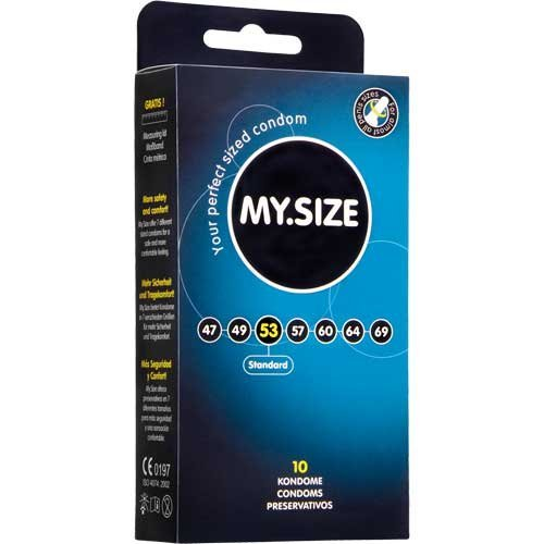 My Size Condoms 53mm x10 (German Engineering at its best) by My Size