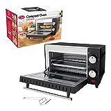Quest 35409 9 Litre Mini Oven and Grill, 100-230°, 60 min Timer Auto Shut Off, 650W, Black