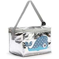 Insulated Lunch Bag Thermal Stripe Tote Bags Cooler Picnic Food Lunch box bag for Women Girls Ladies Kids Children For School work Office & Ourdoor,Sport