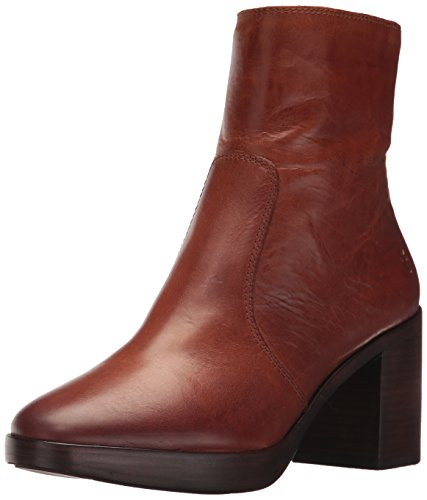 FRYE Women's Joan Campus Short Boot, Redwood Smooth Antique Pull up, 6 M US by FRYE