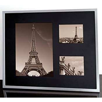 Amazon Com Black Inlay 3 Opening Collage Picture Frame