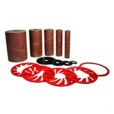 5-piece B.O.S.S. Oscillating Spindle Sander Replacement Drums & Sleeves Kit