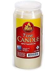 7 Day Yartzeit Candle - Kosher Yahrtzeit Memorial and Yom Kippur Candle in Plastic Holder