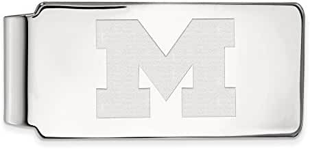 Sterling Silver LogoArt Official Licensed Collegiate University of Michigani (UM) Money Clip