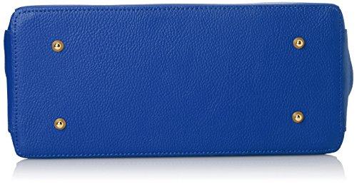 Chicca Borse 08005-a-Bluette, Bolso de Mano para Mujer, Azul (Bluette), 35 cm