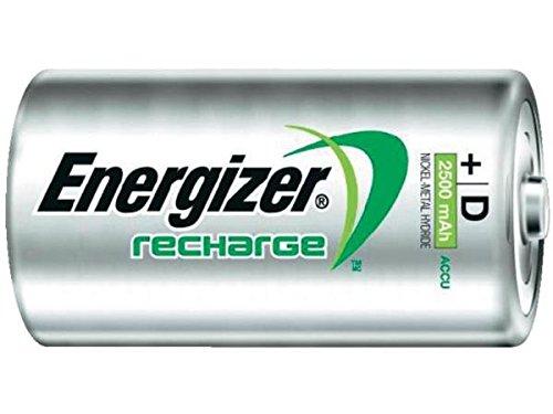 12 x D Energizer Recharge NiMH Batteries (2500 mAh)