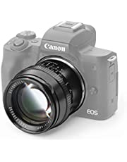 TTartisan 50 mm F1.2 APS-C cameralens met grote opening, handmatige scherpstelling, compatibel met Canon EOS-M Mount M1 M2 M3 M5 M6 M6II M10 M100 M50